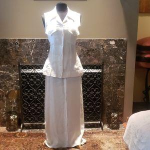 Long Linen Skirt / Vest set